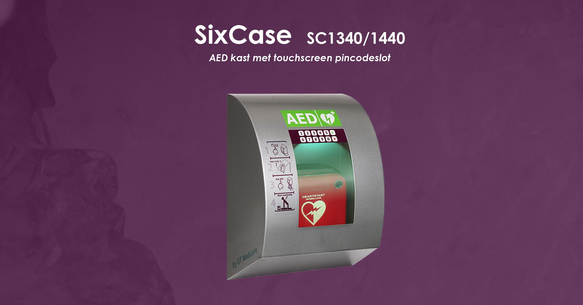 Sc13401440 Aed Kast Met Touchscreen Pincodeslot